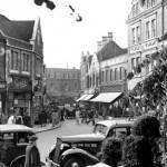Church Street from the Churchyard, 1955
