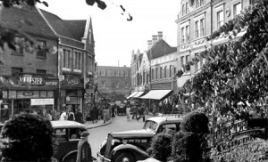 Church Street from the Churchyard, 1955